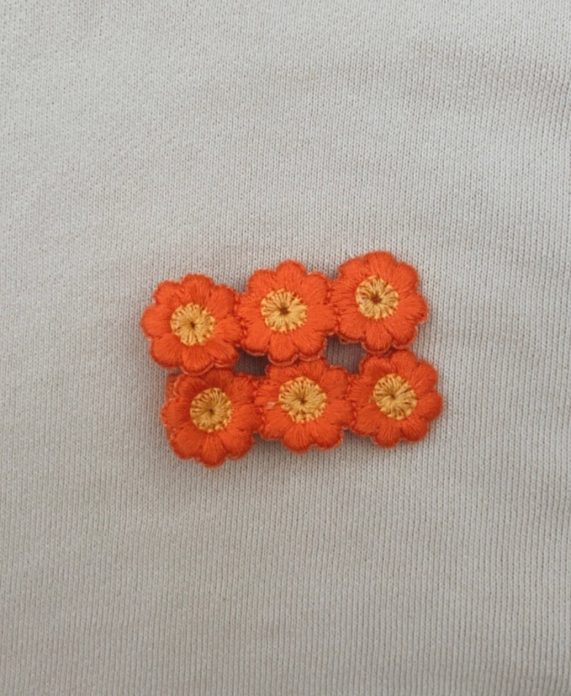 Orange Bloom Clip Set