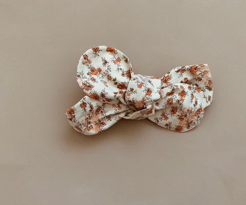 "Orange Floral ""Petite"" Topknot"