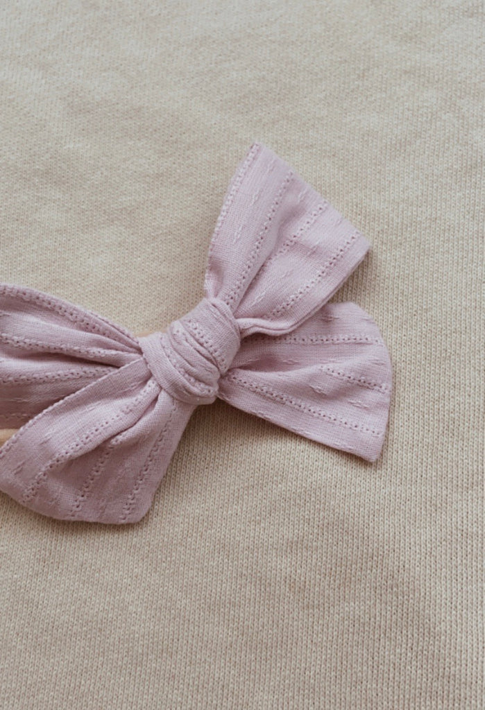 Lavender Embroidery Bow