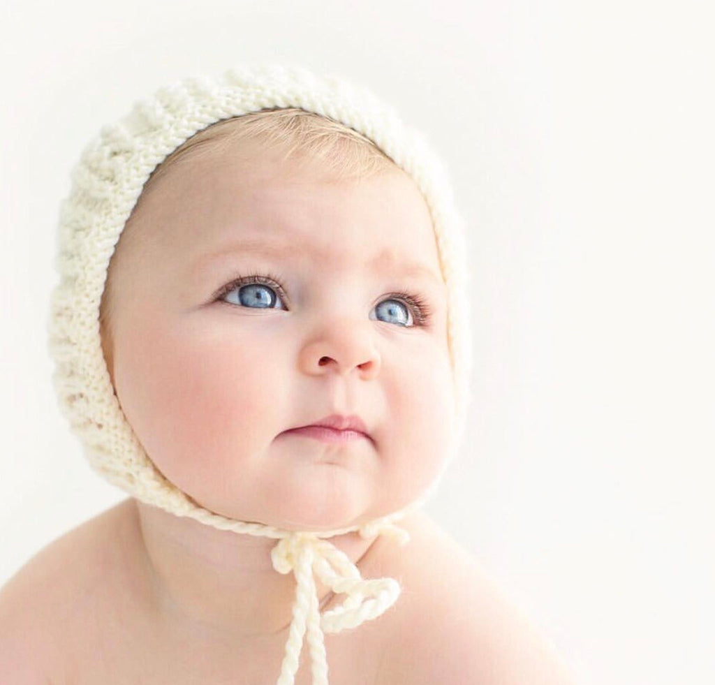 "Cream ""Esme"" Knitted Bonnet"