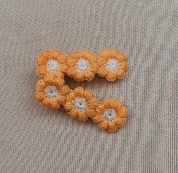 Yellow Bloom Flower Clip Set