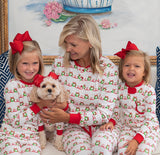 Merry Wreath Girls Two Piece Pajamas