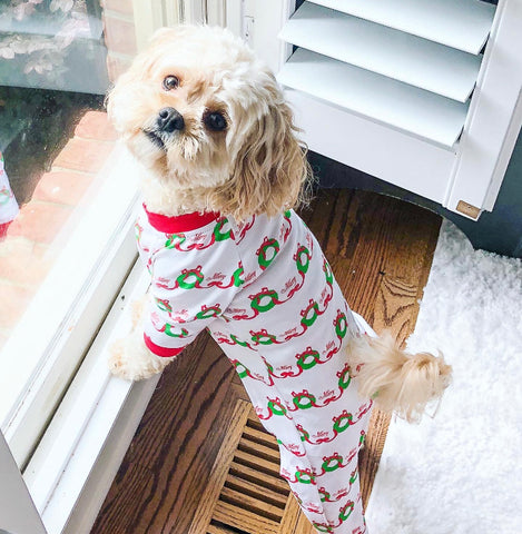 Merry Wreath Dog Pajamas