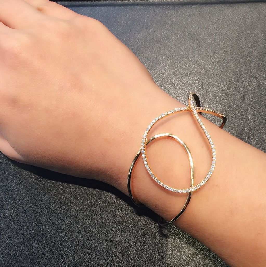 Nova Statement Bangle in 18K Rose Gold