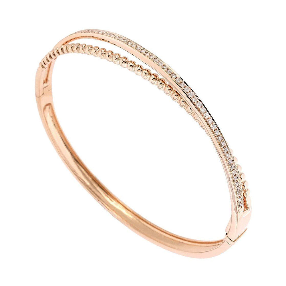 Amelie Criss Cross Bangle in 18K Rose Gold