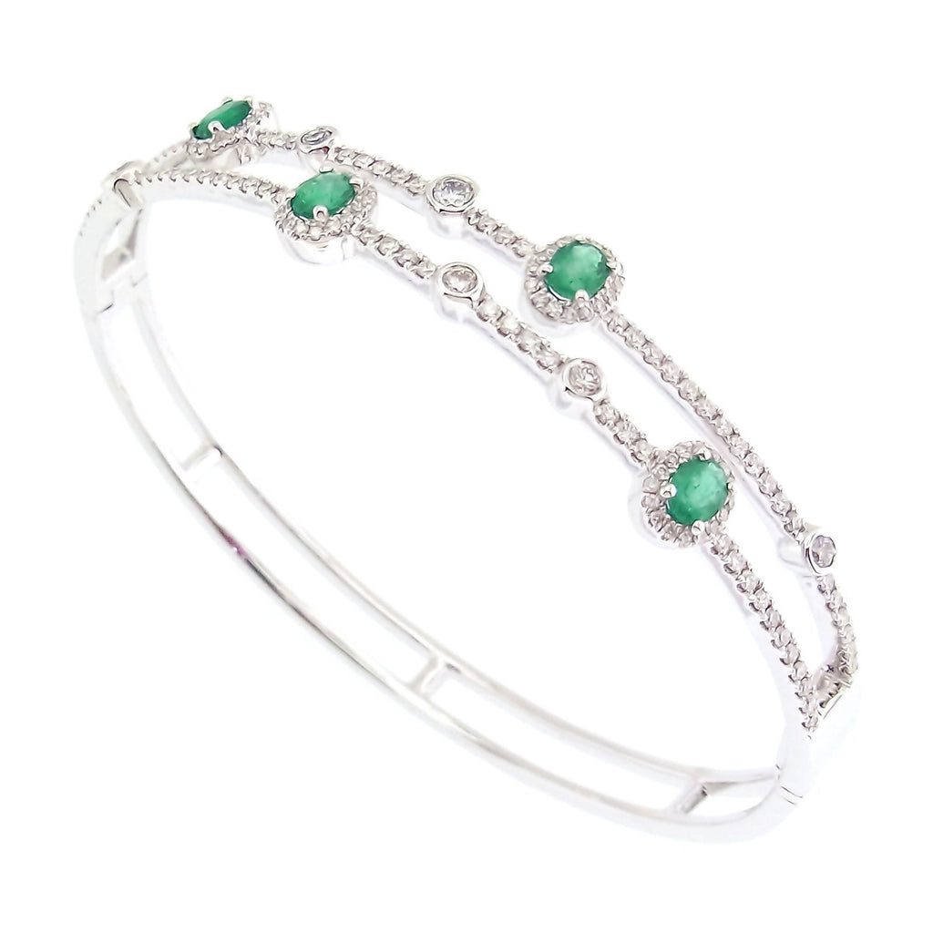 Cassandra Emerald Bangle in 18K Gold