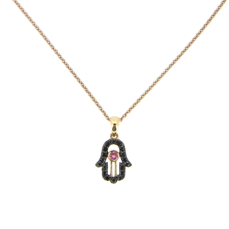 Hamzah Black Diamond Pendant Necklace