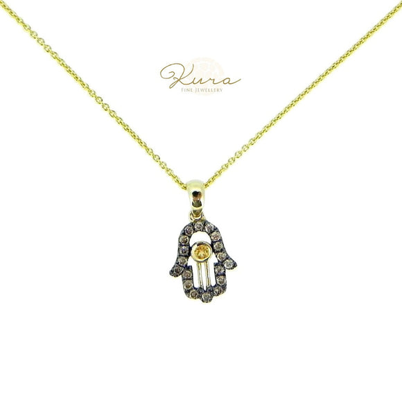 Hamzah Brown Diamonds Pendant Necklace