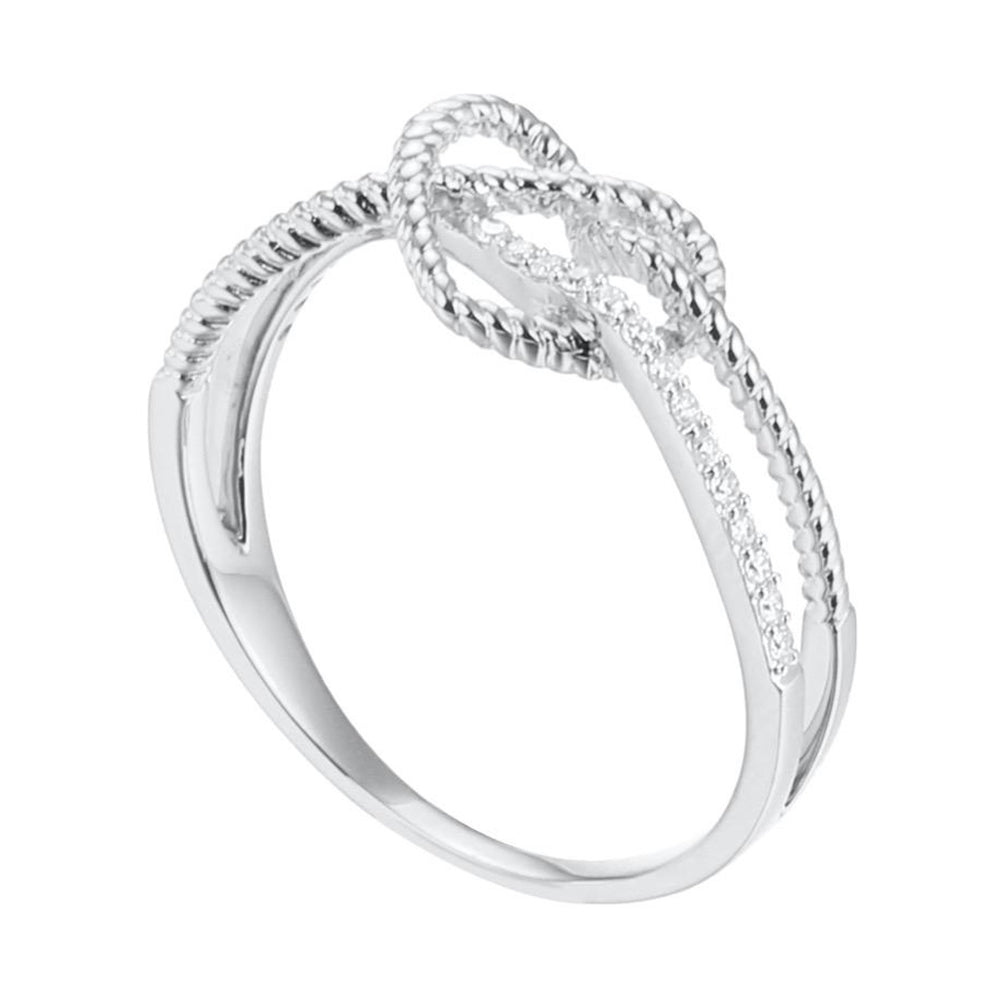 Love Knots Cable Ring with Diamonds in 18Karat Gold - Kura Jewellery