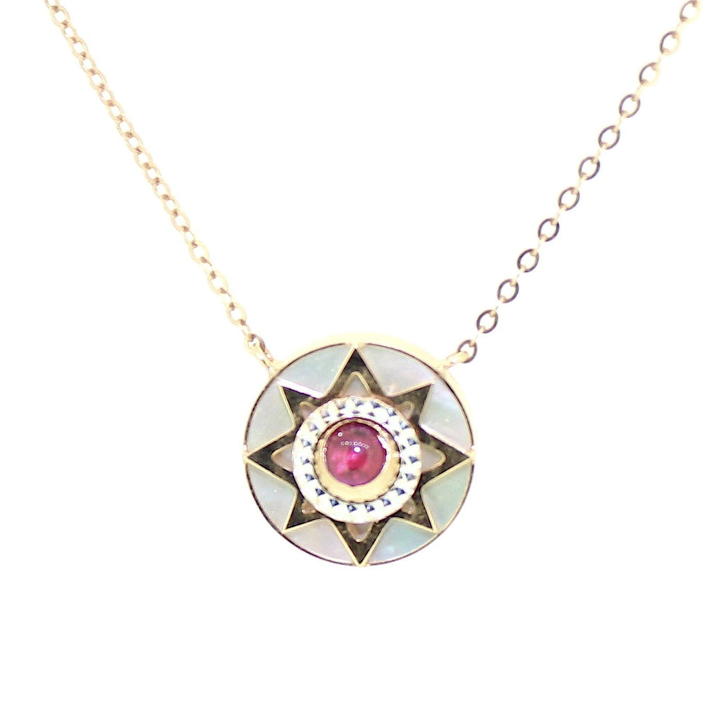 Mother of Pearl Orion Star Necklace in 18 Karat Rose Gold