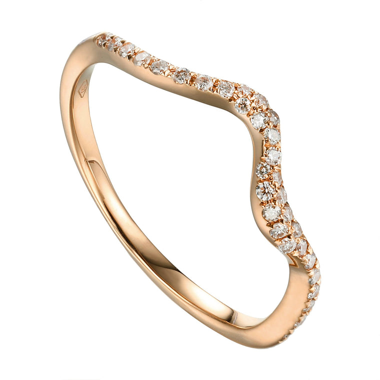 Nia Skinny Ring in 18K Rose Gold - Kura Jewellery