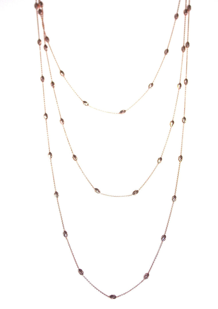 Opera Necklace - Rose Gold plated on Sterling Silver