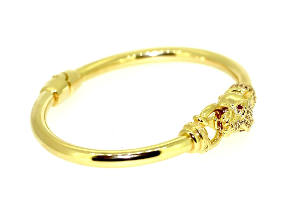 Panther Bangle - 18K Yellow Gold Plated on 925 Sterling Silver