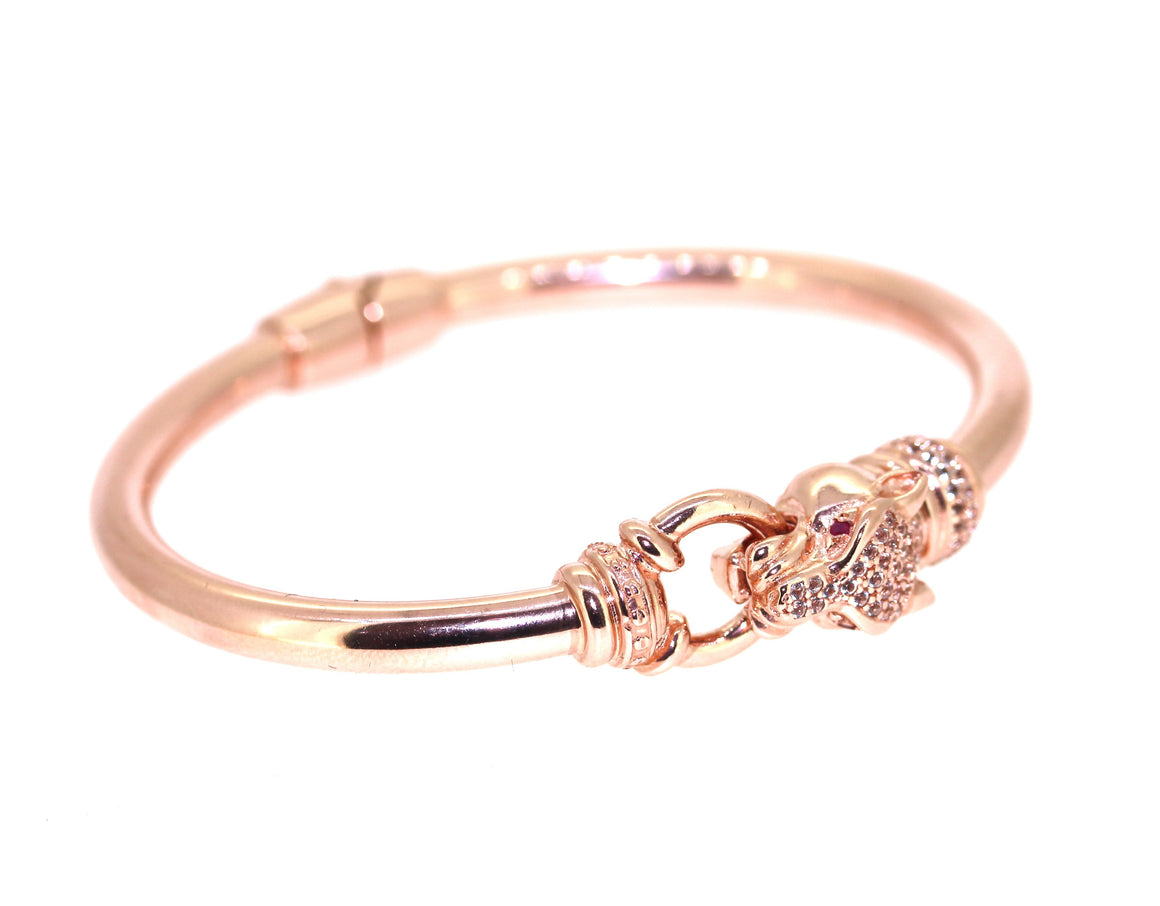 Panther Bangle - Rose Gold Plated on Sterling Silver