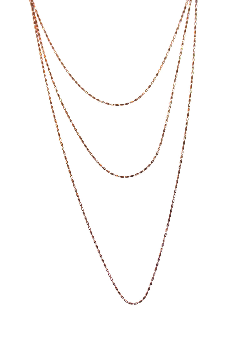 Riso Necklace - Rose Gold Plated on Sterling Silver