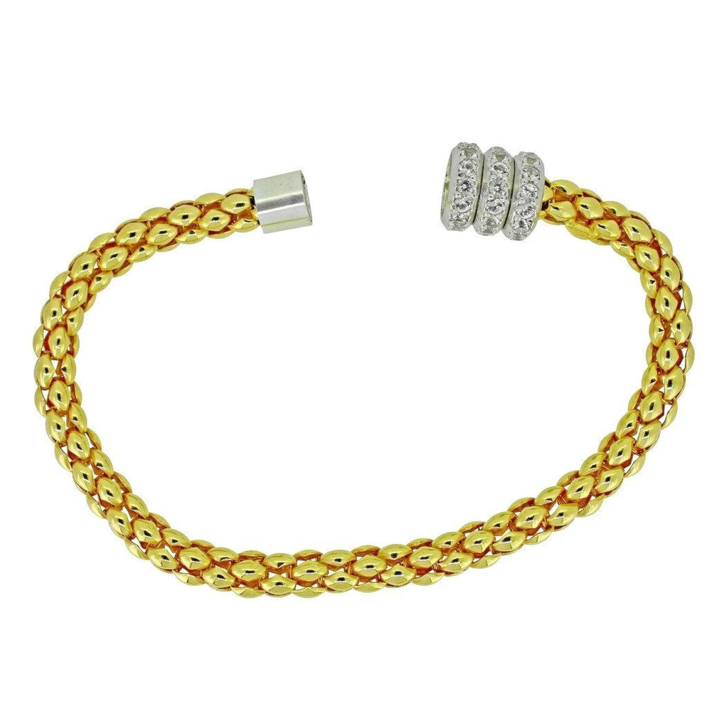 Roda Magnetic Bracelet - Yellow Gold Plated on Sterling Silver