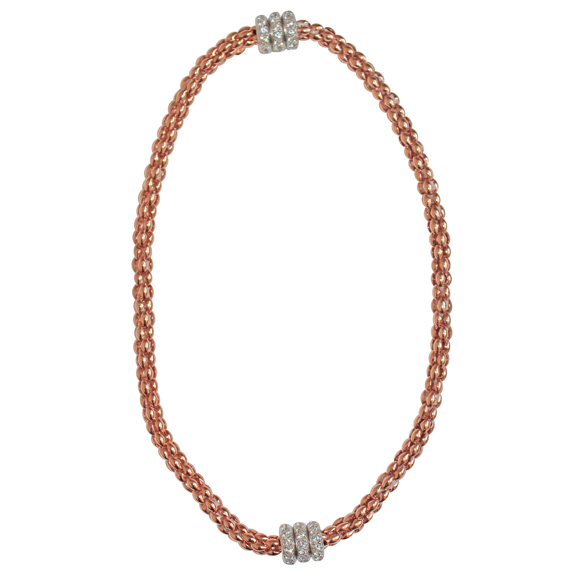 Roda Magnetic Choker- Rose Gold Plated on Sterling Silver