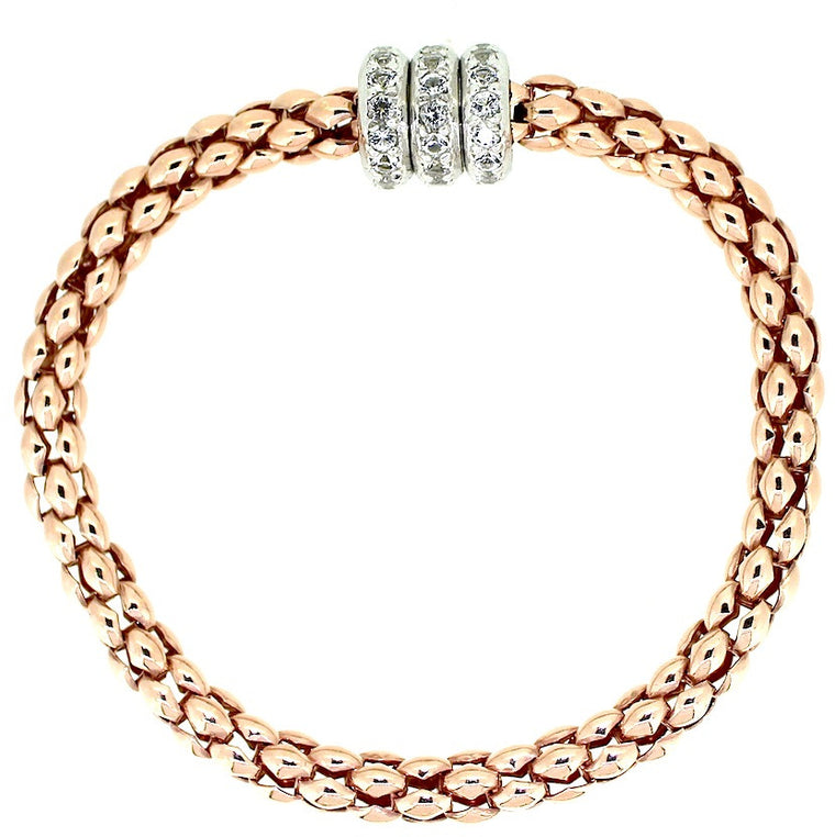Roda Magnetic Bracelet - Rose Gold Plated on Sterling Silver