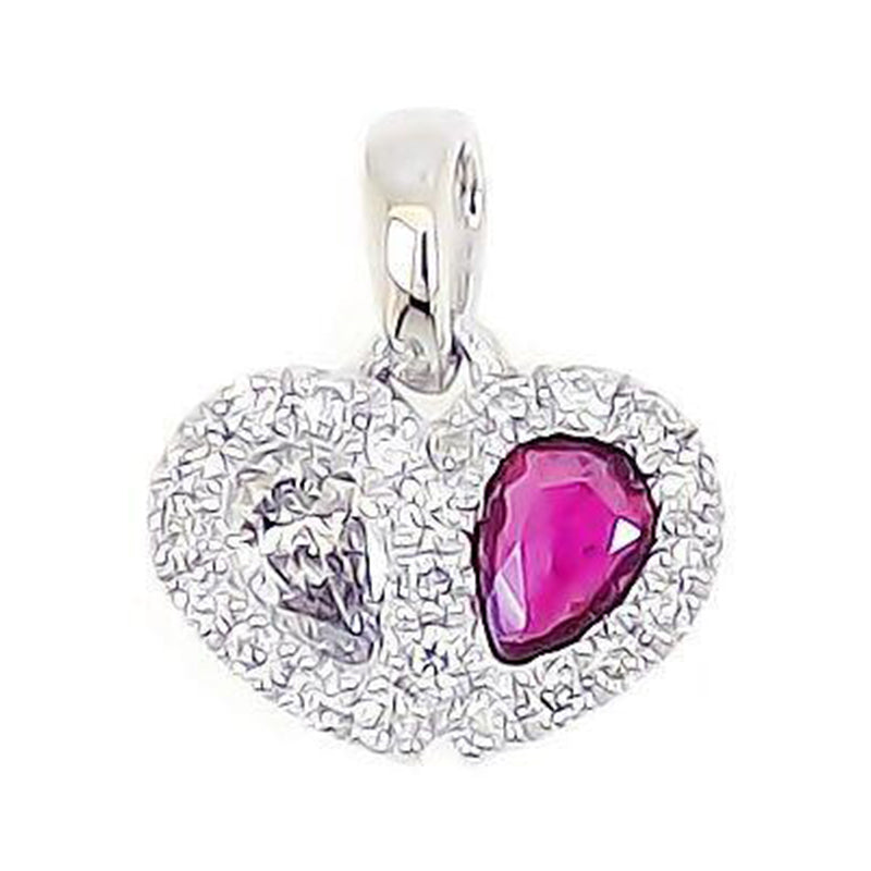 Sweetie Heart Pendant- Red Ruby in 18Karat Gold - Kura Jewellery