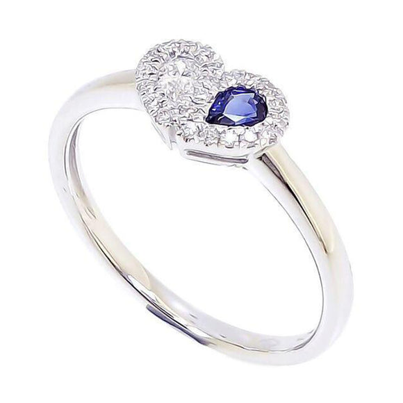 Sweetie Heart Ring - Blue Sapphire in 18Karat Gold (pre-order) - Kura Jewellery