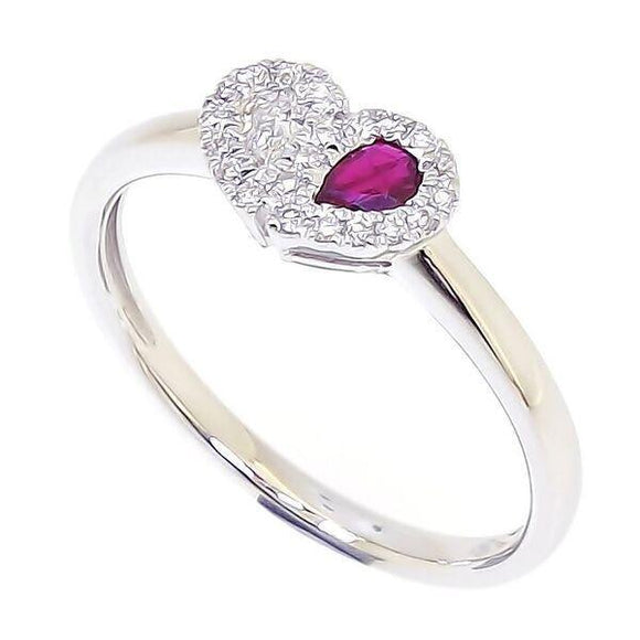 Sweetie Heart Ring - Red Ruby in 18Karat Gold (pre-order) - Kura Jewellery