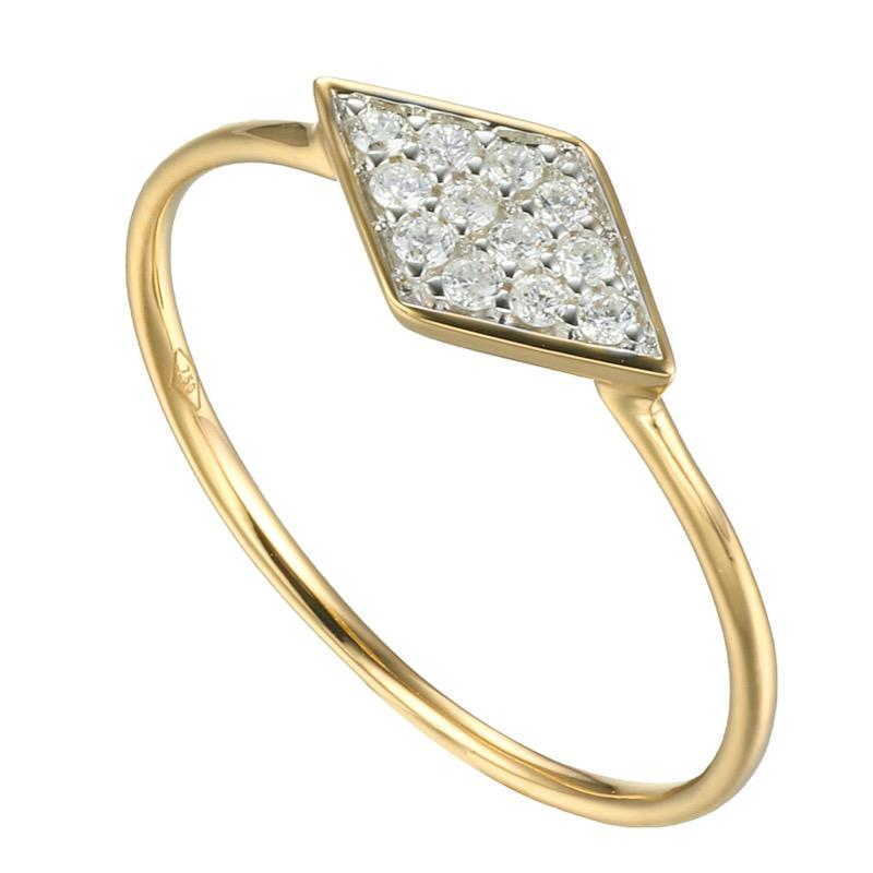 Wajik Skinny Stackable Ring with Diamonds in 18Karat Gold - Kura Jewellery