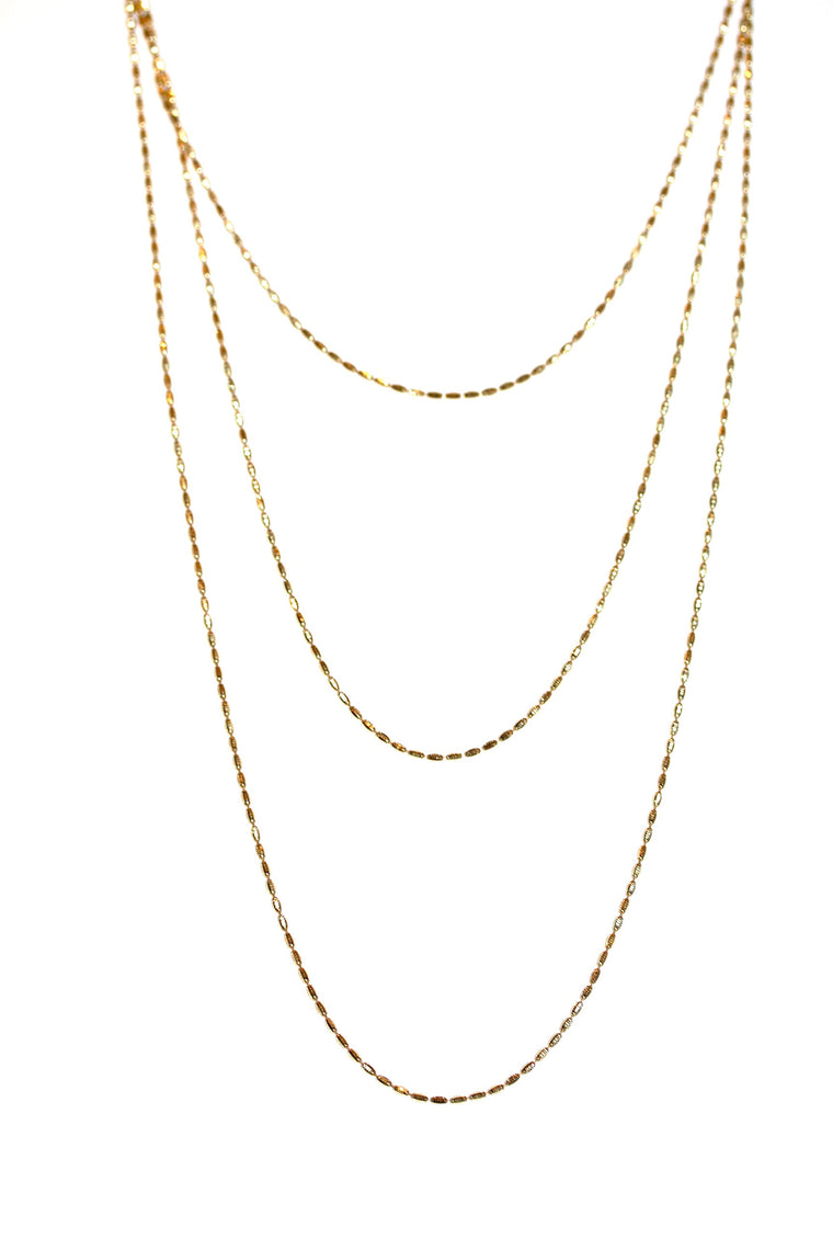 Riso Necklace - Yellow Gold Plated on Sterling Silver