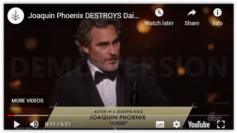 Joaquin Phoenix talks about the dairy industry