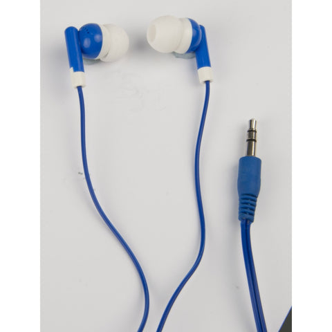 Stereo earphones blue