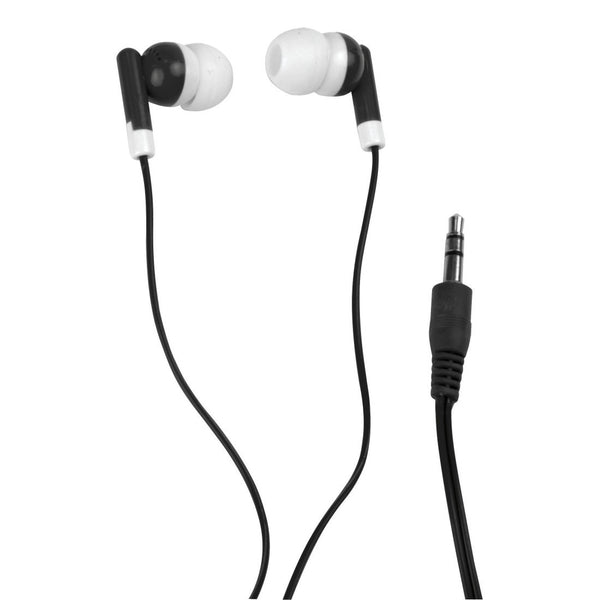 Stereo earphones black