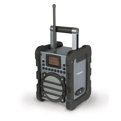 Labgear 6 W DAB Worksite Radio with LCD Display and Rugged Weatherproof IP44 Design