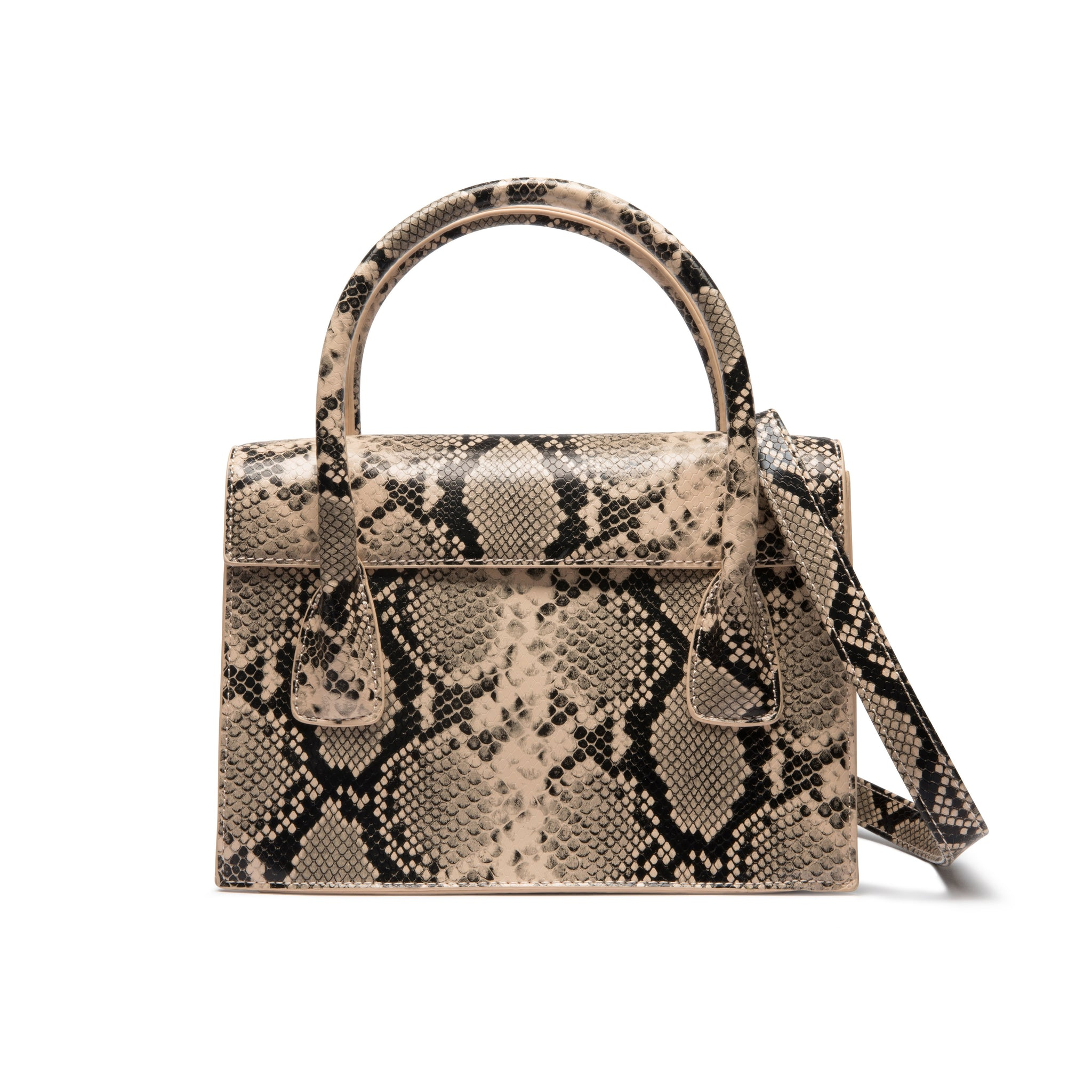 Arabella Crossbody Bag (Cream/ Black Snakeskin)