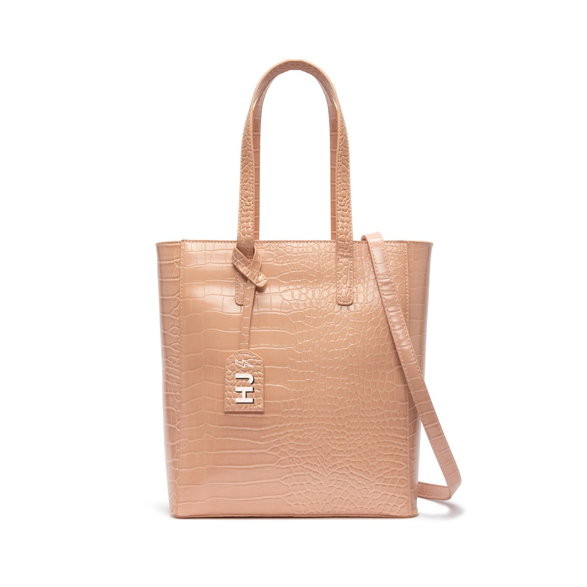 Cora Tote Bag (Nude Peach/Rose Gold)