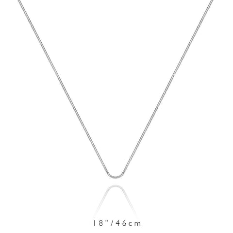 Short Chain Necklace (Silver)