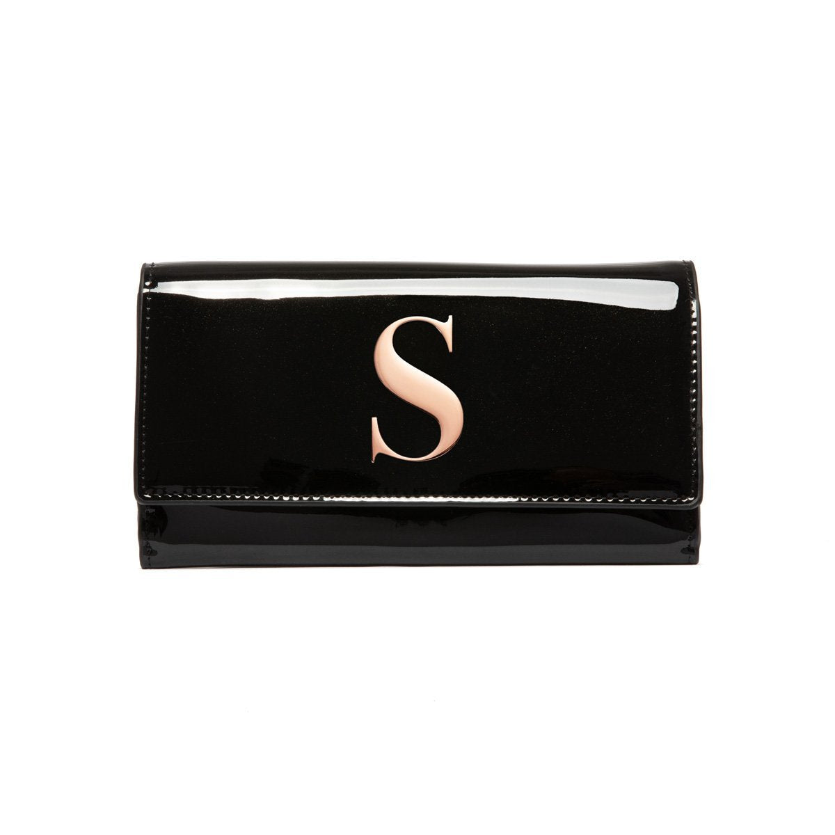 Jet Black Patent Bella Wallet