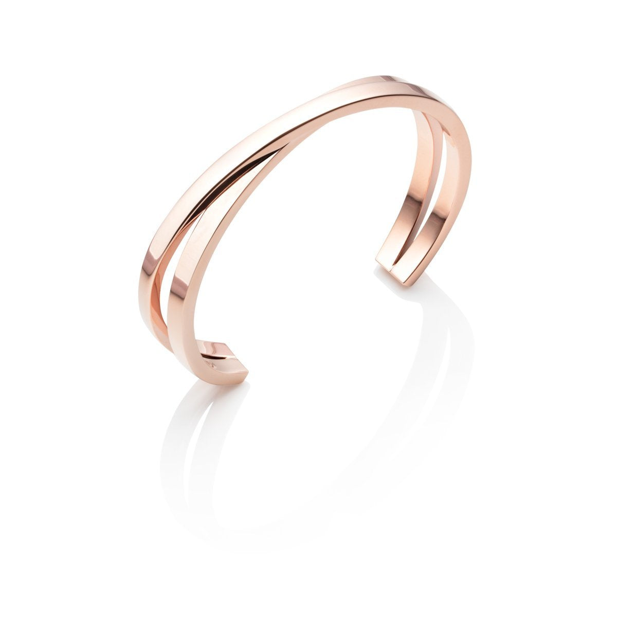 Twist Bangle (Rose Gold)