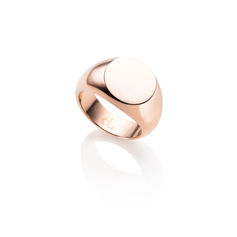 Personalise Signet Ring (Rose Gold)