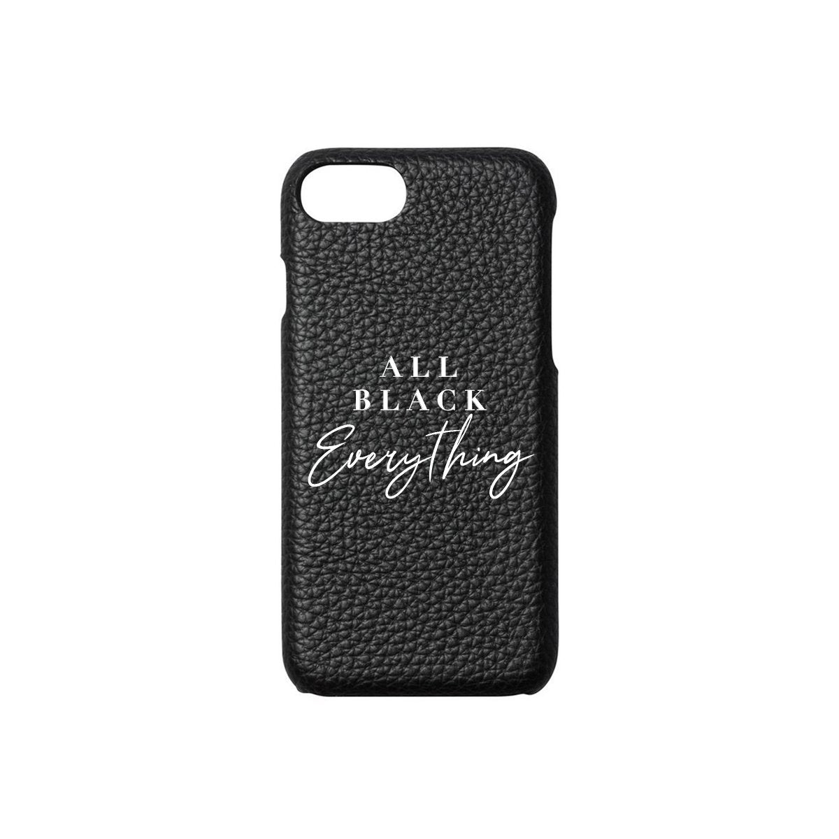All Black Everything Phone Case