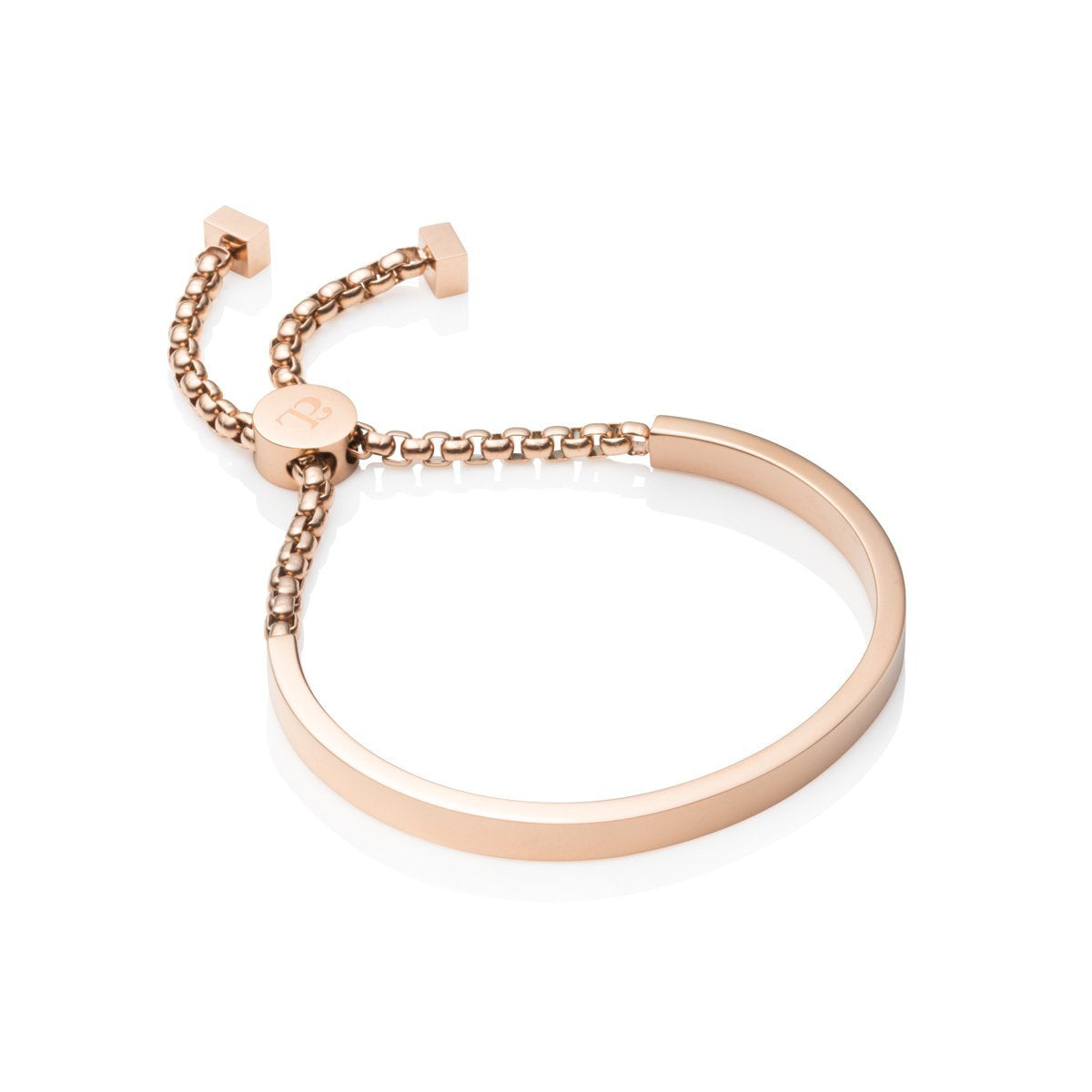 Curve Chain Bracelet (Rose Gold)