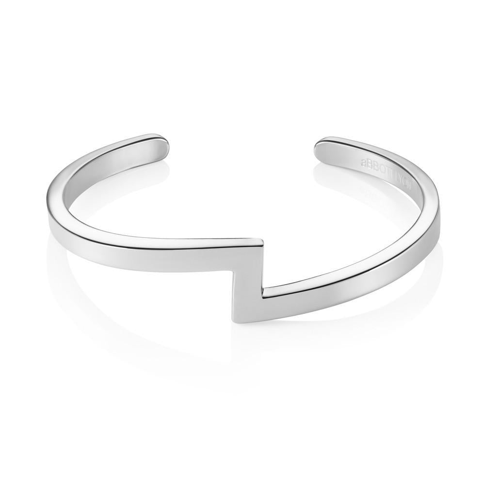 Zig Zag Bangle (Silver)