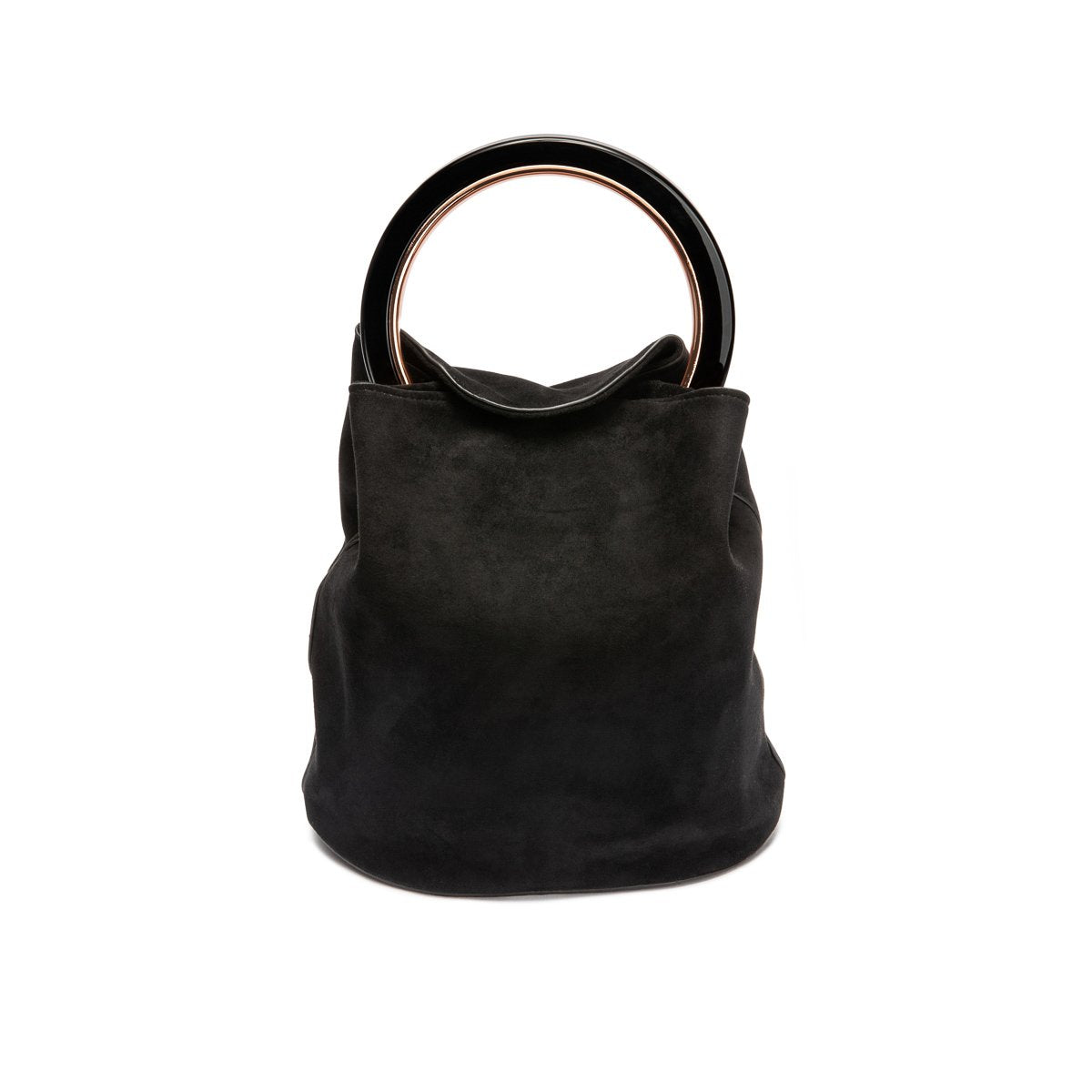 Sofia Handle Bag Jet Black (Black/Rose Gold)