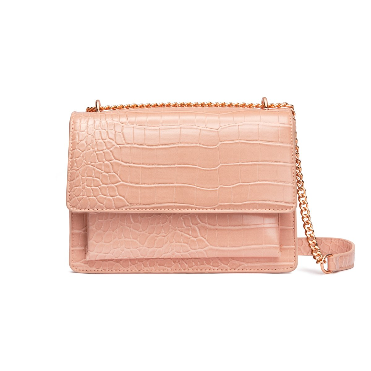 Jasmine Crossbody Bag (Nude Peach/Gold)