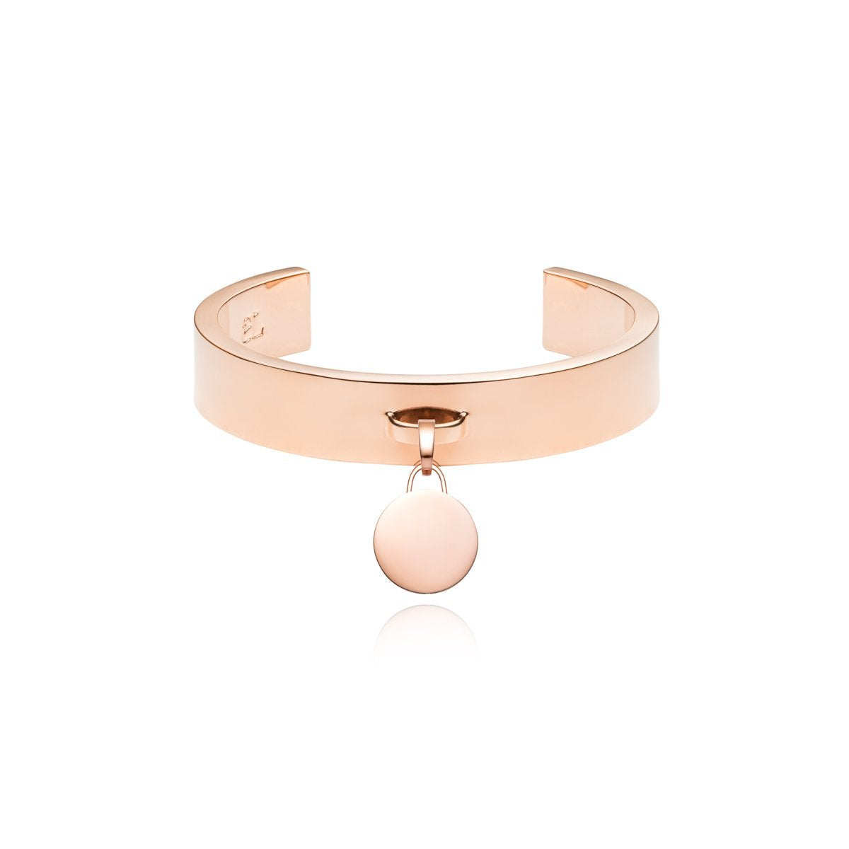 Luna Small Charm Bangle (Rose Gold)
