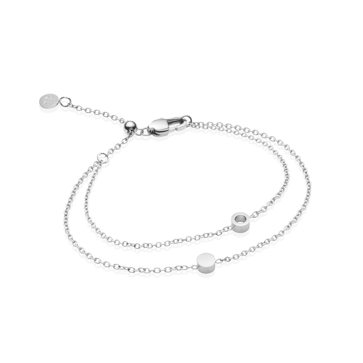 Little Luxe Double Disc Bracelet (Silver)