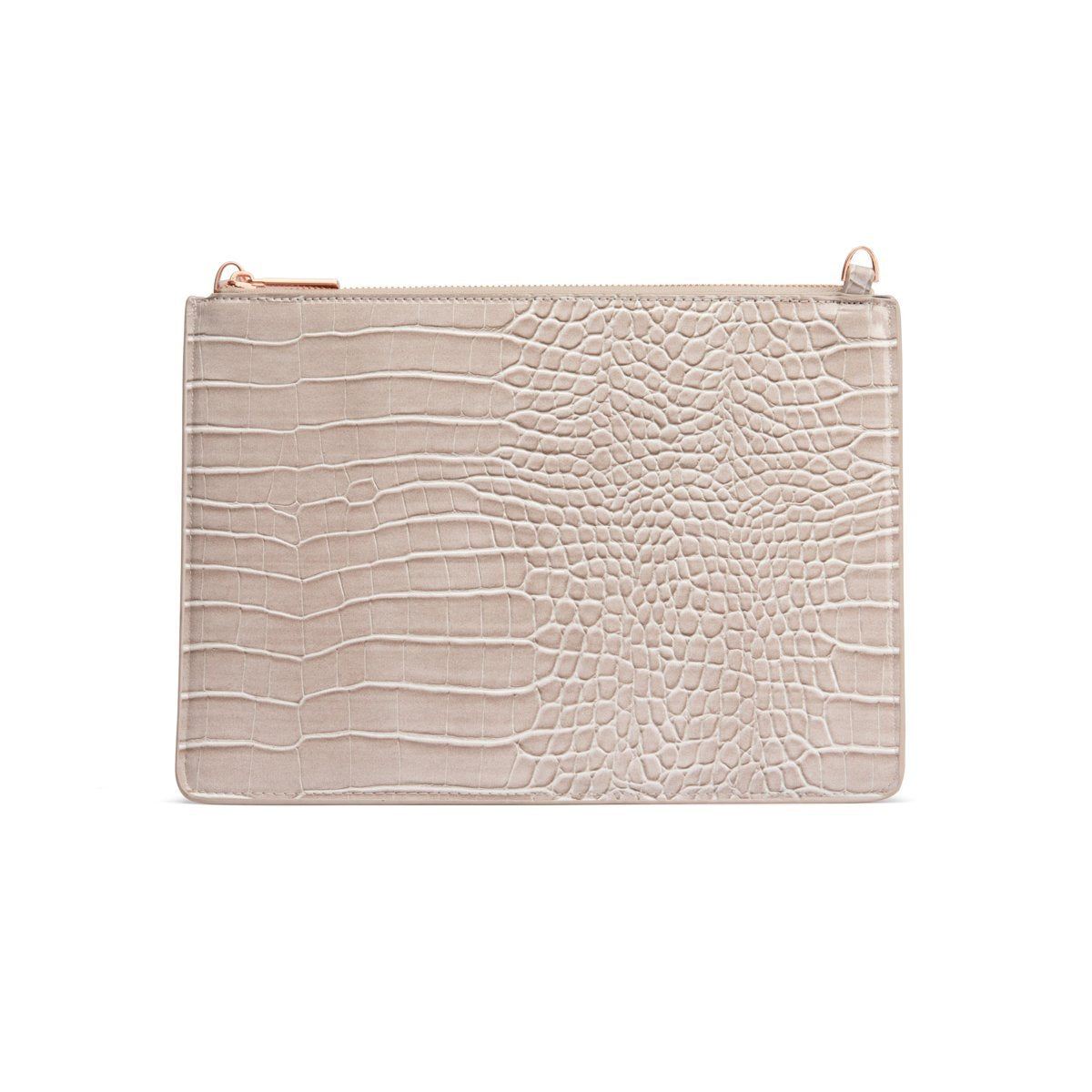 Naomi Clutch Bag (Ash Grey/Rose Gold)