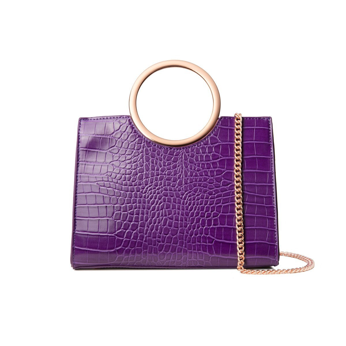 Arora Handle Bag (Ultra Violet/Rose Gold)