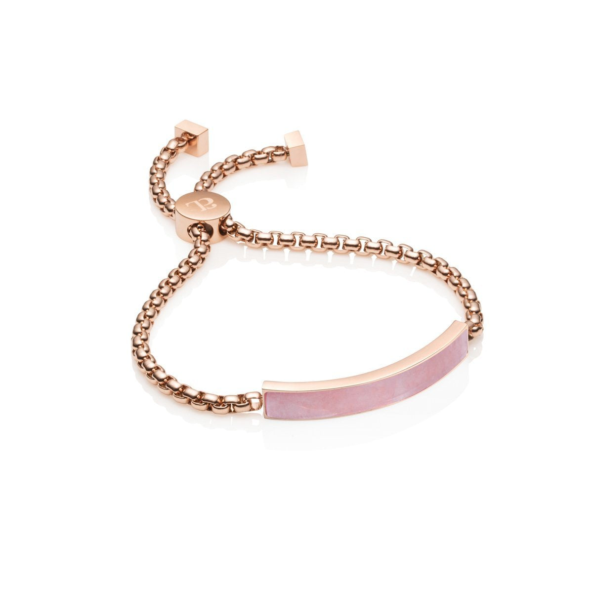 Quartz Chain Bracelet (Rose Quartz/Rose Gold)