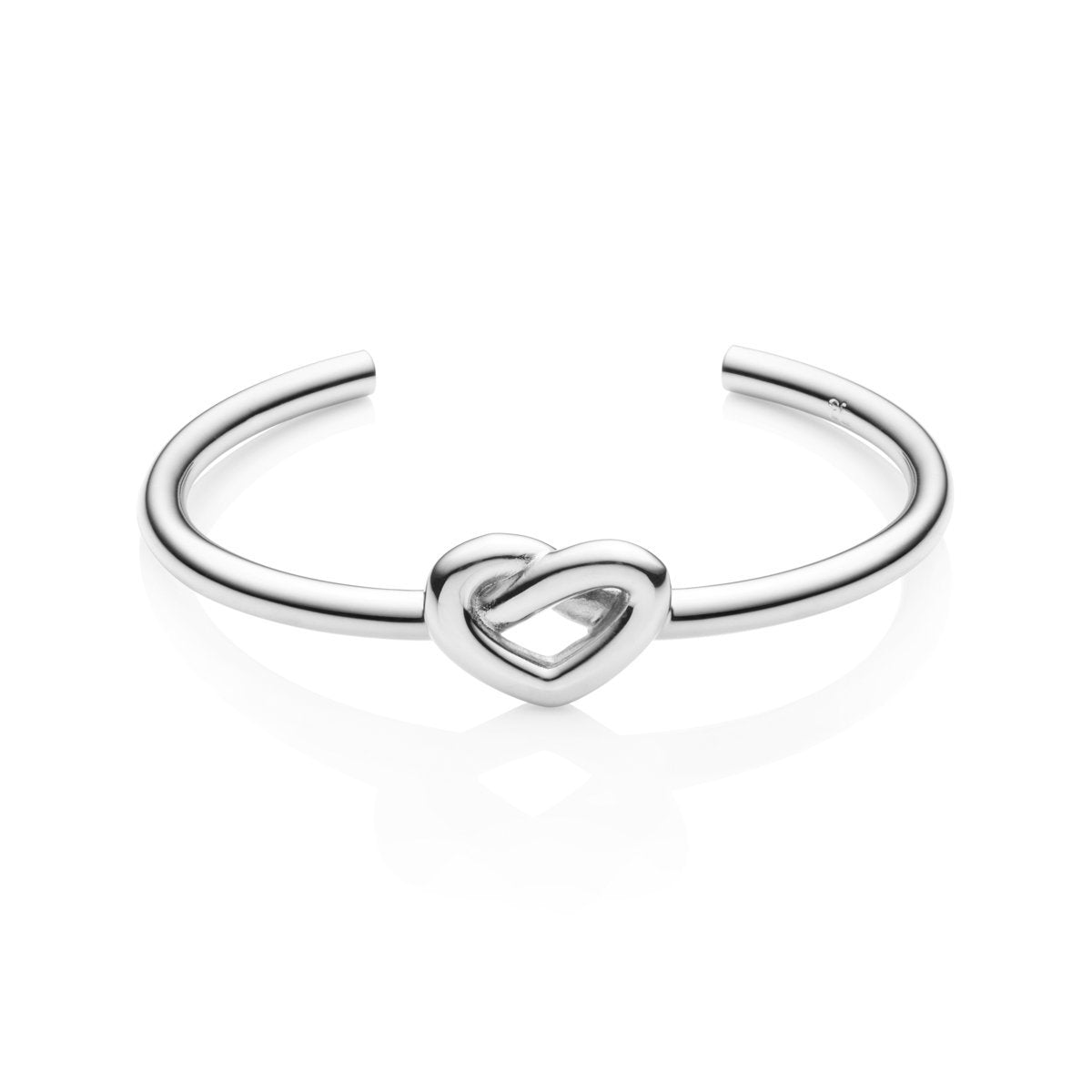 Heart Knot Bangle (Silver)