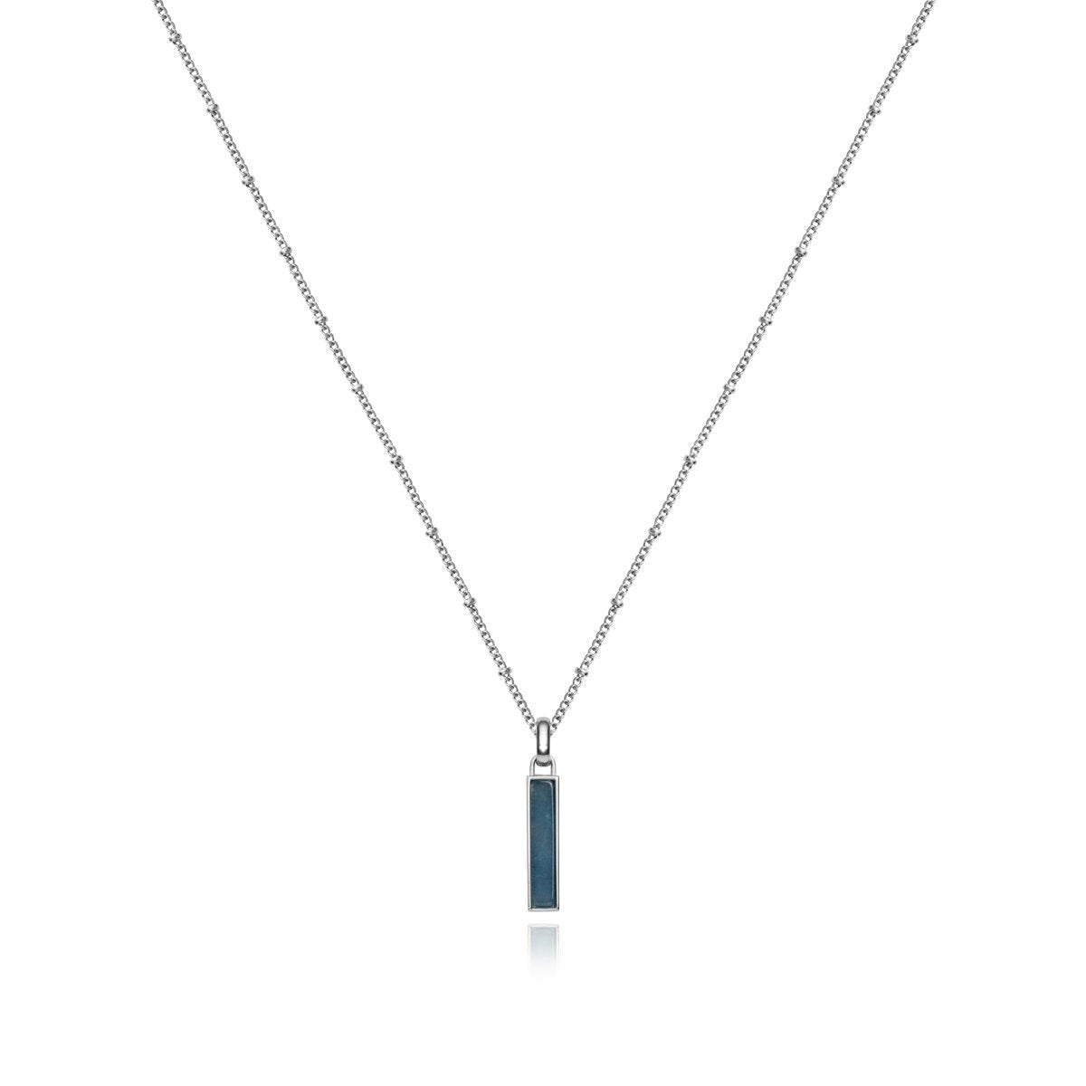 Small Lineare Bijou Charm Necklace (Kyanite/Silver)