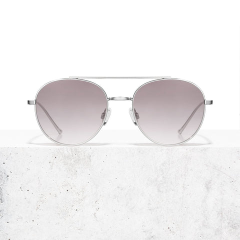 Silver Blue Faded Vita Sunglasses